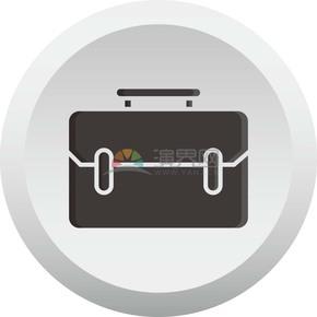 黑色公文包商业图标矢量素材