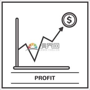 涨幅金融指标图标