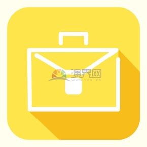卡通線性黃色商務包辦公ui圖標元素