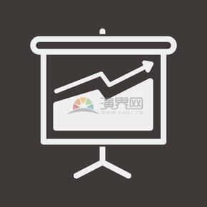 線性投屏顯示屏數據匯報辦公圖標元素