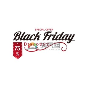 商业促销黑色星期五艺术字图标矢量图素材