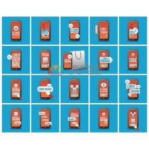 手机样式促销优惠图标素材合集