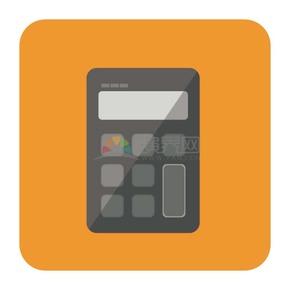 商业金融黄色计算器办公元素图标