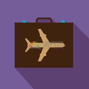 卡通商业金融商务包飞机办公用品素材