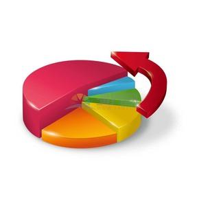 饼状图商业图标矢量素材
