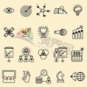 淡色系背景商业卡通图标元素创意设计合集