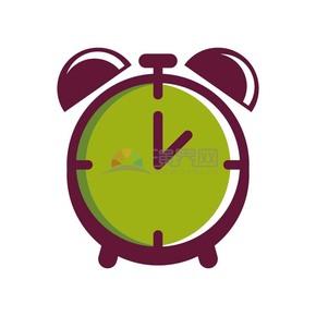 商業辦公元素綠色鬧鐘