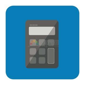 商业金融蓝色计算器办公元素图标
