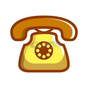 商业办公图标元素黄色电话
