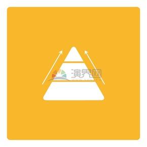 黄色背景金字塔奋斗商业图标矢量素材