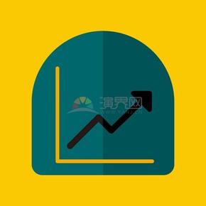 线性商业金融数据曲线图UI矢量图标