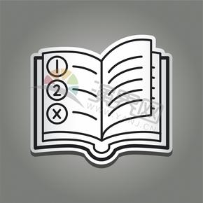 创意简约日常应用程序办公阅读书籍学习图标