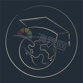 国际化毕业生留学生学生学校教育创意图标
