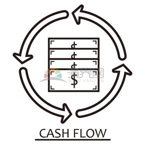 線性金錢流通icon素材