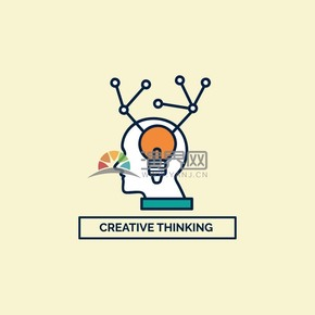 商務人物大腦燈泡idea矢量圖表