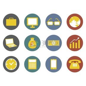 卡通商业金融办公图标合集