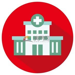 卡通建筑医疗医院矢量图