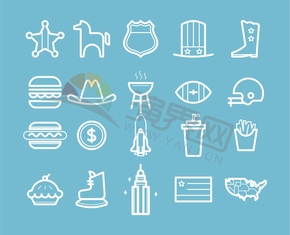 蓝色休闲食物户外活动建筑服装搭配合集