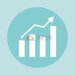 卡通商务金融经济数据上升素材
