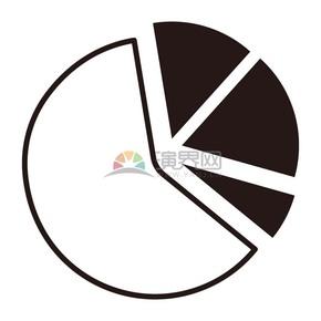 饼状图数据分析商业图标矢量素材
