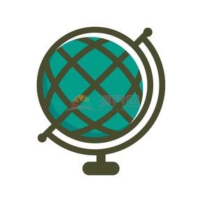 商业办公图标元素绿色地球仪