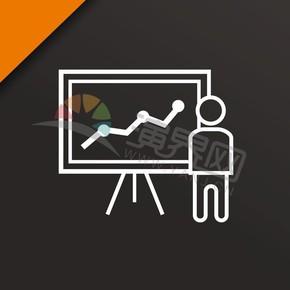 黑色系简约版卡通金融图标元素创意设计