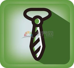 商業辦公元素綠色領帶