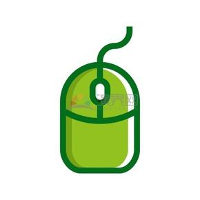 商業辦公元素綠色鼠標