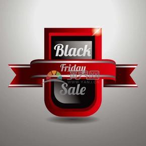 商业促销黑色星期五立体图标矢量图素材