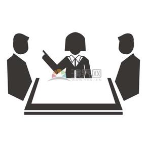 商業探討合作商業圖標矢量素材