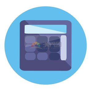 商业金融紫色计算器办公元素图标
