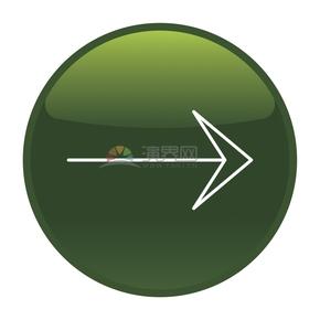 简洁创意绿色向右箭头标识卡通图标