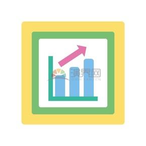卡通商务金融经济数据上升插图素材