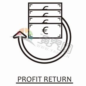 简约黑色线条卡通图标金融元素创意设计