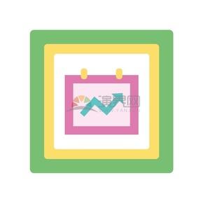 卡通商务金融经济数据几何配图素材