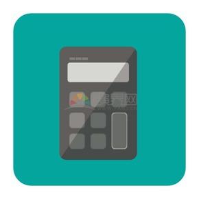 商业金融绿色计算器办公元素图标