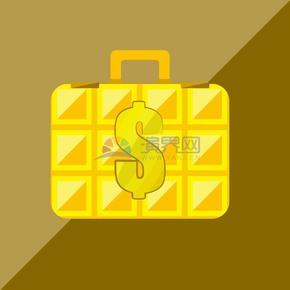 卡通商业金融手提式保险箱素材