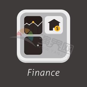 黑色商务金融股市走向办公管理创意图标合集