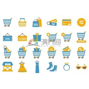 商场促销折扣购物图标合集