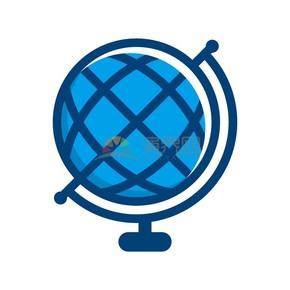 商业办公图标元素蓝色地球仪