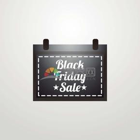 商业促销黑色星期五公文包标签图标矢量图素材