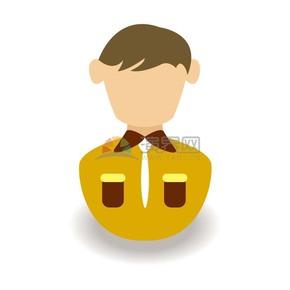 卡通黄色职业装职场人物插图