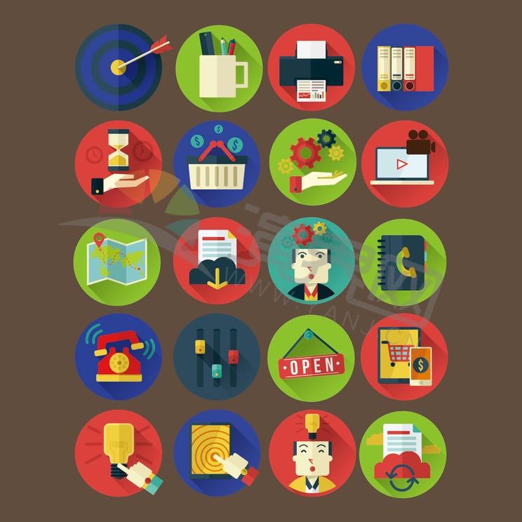 绿色商业金融元素图标合集