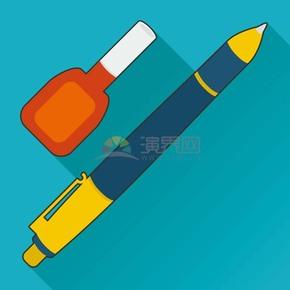 卡通圆珠笔修正液学习文具