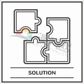 拼圖卡通圖標商業元素創意設計