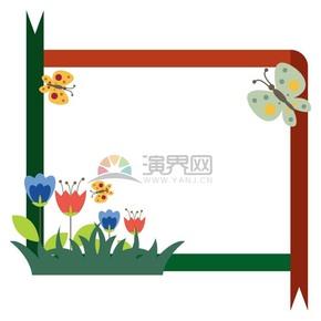 鲜花蝴蝶展示框