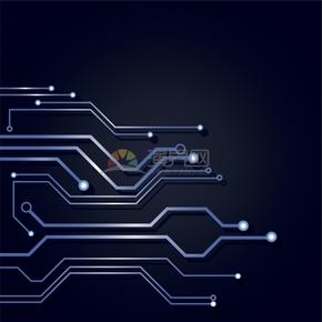 科技芯片电路板集成电路线条