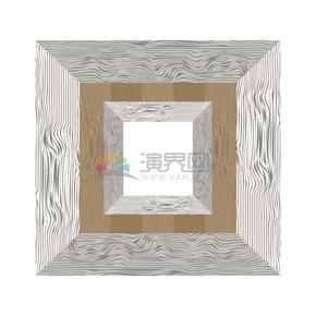 创意复古树木纹理边框