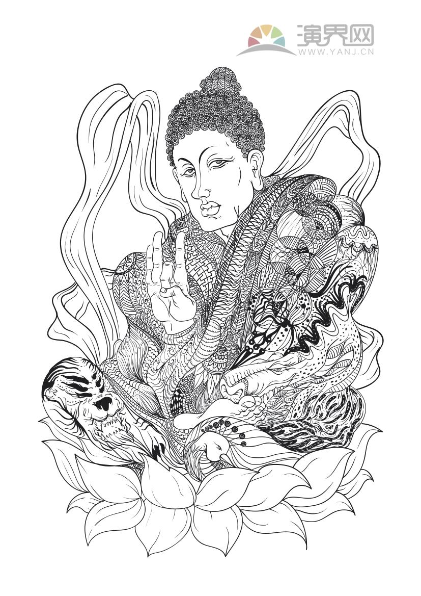 佛祖花紋創意設計