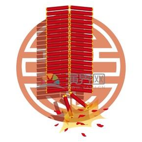 春节喜庆元素鞭炮